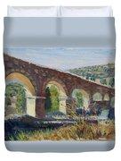 Aqueduct Near Pedraza Duvet Cover
