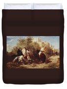 Arab Horsemen Duvet Cover