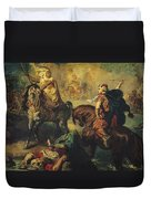 Arab Tribal Chiefs In Single Combat Duvet Cover