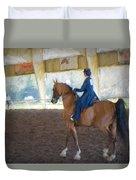Arabian Dressage Duvet Cover