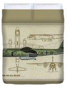 Arado Ar234b-2 - Profile Art Duvet Cover