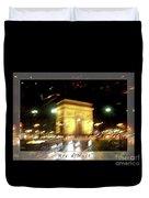 Arc De Triomphe By Bus Tour Greeting Card Poster V1 Duvet Cover