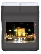Arc De Triomphe By Bus Tour Greeting Card Poster V2 Duvet Cover