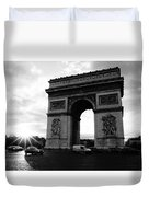 Arc De Triomphe Sunset Paris, France Duvet Cover