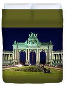 Arcade Du Cinquantenaire At Night - Brussels Duvet Cover
