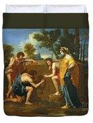 Arcadian Shepherds Duvet Cover by Nicolas Poussin