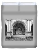 Arch At Fontevraud Abbey Bw Duvet Cover