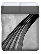 Arch In Black And White Duvet Cover