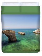 Arch Of Albandeira Beach Duvet Cover