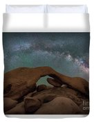 Arch Rock Milky Way  Duvet Cover