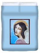 Archangel Contemplating The Holy Child Duvet Cover