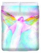 Archangel Gabriel In Flight Duvet Cover