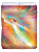 Archangel Jophiel Illuminating The Ethers Duvet Cover