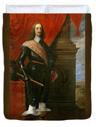 Archduke Leopold Wilhelm With The Siege Of Gravelingen Duvet Cover