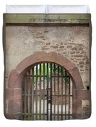 Arched Gate At Heidelberg Castle Duvet Cover