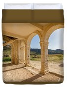 Arches And Stairs Of Derelict Agios Georgios Church Duvet Cover