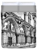 Arches Front Of The Royal Courts Of Justice London Duvet Cover