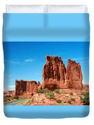 Arches National Park From A Utah Highway Duvet Cover