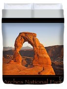 Arches National Park Poster Duvet Cover