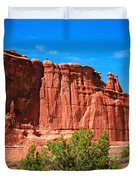 Arches National Park, Utah Usa - Tower Of Babel, Courthouse Tower Duvet Cover