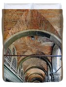 Architectural Ceiling Of The Building Owned By The Rialto Market In Venice, Italy Duvet Cover