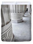 Architectural Pillars Duvet Cover
