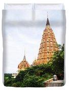 architecture at Wat Tham Sua Duvet Cover