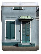 Architecture Of The French Quarter In New Orleans Duvet Cover