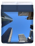 Architecture Tall Color Buildings Duvet Cover
