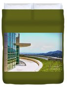 Architecture View Getty Los Angeles  Duvet Cover