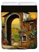 Arco Di Paese Duvet Cover by Guido Borelli