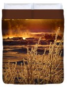 Arctic Sea Smoke Sunrise Duvet Cover