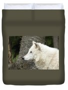 Arctic Wolf - On Watch Duvet Cover