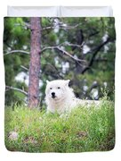 Arctive Wolf Lying Down Duvet Cover