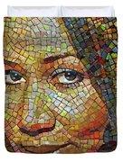Aretha Franklin Tribute Mosaic Portrait 2 Duvet Cover