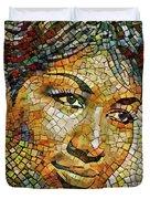 Aretha Franklin Tribute Mosaic Portrait 3 Duvet Cover
