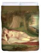 Ariadne Asleep On The Island Of Naxos Duvet Cover by John Vanderlyn