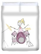 Arial Plays The Drums  Duvet Cover
