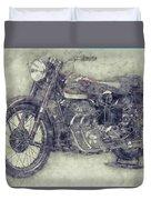 Ariel Square Four 1 - 1931 - Vintage Motorcycle Poster - Automotive Art Duvet Cover