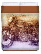 Ariel Square Four 2 - 1931 - Vintage Motorcycle Poster - Automotive Art Duvet Cover