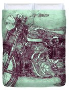 Ariel Square Four 3 - 1931 - Vintage Motorcycle Poster - Automotive Art Duvet Cover