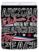 Arizona American Patriotic Memorial Day Duvet Cover