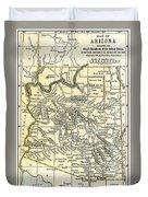 Arizona Territory Antique Map 1891 Duvet Cover