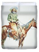 Arizona Cowboy, 1901 Duvet Cover