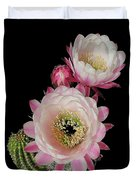 Arizona Desert Cactus Flowers Duvet Cover
