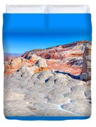 Arizona- Paria Plateau- White Pocket Duvet Cover