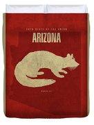 Arizona State Facts Minimalist Movie Poster Art Duvet Cover