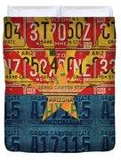 Arizona State Flag Vintage License Plate Art Duvet Cover
