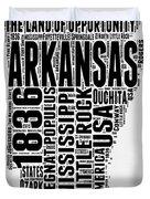 Arkansas Word Cloud 2 Duvet Cover