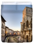 Arles Streets And Arena Duvet Cover